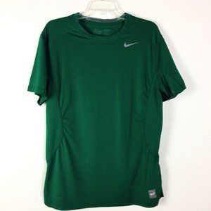 Nike Pro Combat Fitted Dri-Fit Green Shirt